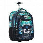 Sac à dos à roulettes No Fear Skull 48 CM - Cartable
