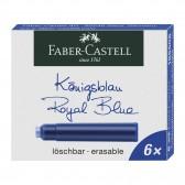 Cartouches d'encre bleue Faber-Castell pour stylo plume - Boîte de 6