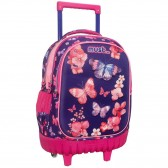 Wheeled Backpack Must Butterflies 3D 45 CM Trolley Top Of Range