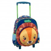 Space Astronaut 31 CM Maternal Wheeled Backpack Shines in the Dark
