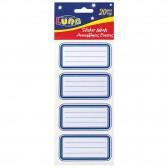 Lot of 20 blue line school labels - AVERY