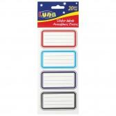 Heleboel 20 blauwe lijn school etiketten-AVERY