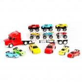 Camion transporteur avec voitures - Lot de 12 voitures