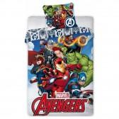 Avengers 140x200 cm dekbedovertrek en kussen taie - Marvel