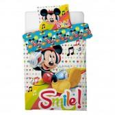 Parure housse de couette Mickey Music 140x200 cm et Taie d'oreiller