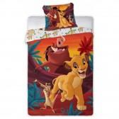 Parure housse de couette Le Roi Lion Disney 140x200 cm et Taie d'oreiller