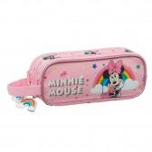 Trousse rectangle Minnie Disney 21 CM - 2 cpt