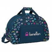 Benetton Blue Marine 48 CM Sports Bag - Top of The Range