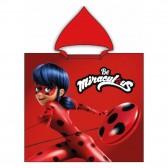Poncho Hoodie Ladybug Miraculous - Baumwolle