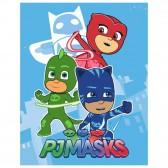 Plaid polaire Pyjamasques 140x100cm - Couverture PJ Masks