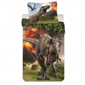 Dinosaurs Jurassic World 140x200 cm cotton duvet cover with pillow taie
