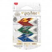 Harry Potter Maped Weißes Radiergummi - 3-mal-Paket