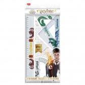 Kit de traçage Maped Harry Potter 1 Règle 2 Equerres 1 Rapporteur