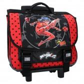 Cartable à roulettes Ladybug Miraculous Super Heroez 38 CM Haut de gamme