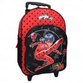 Sac à dos à roulettes Ladybug Miraculous Super Heroez 38 CM Haut de gamme Trolley - Cartable