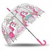 Schirm transparent Einhorn 48 cm