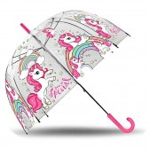 Transparante Eenhoorn Paraplu 48 cm