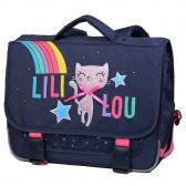 Cartable Lililou Chat Rainbow 38 CM - Haut de gamme