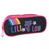 Trousse Lililou Chat Rainbow 23 CM 2 Cpt
