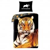 Tiger katoenen dekbedovertrek versiering 140x200 cm met kussensloop