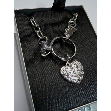 Collier Playboy Coeur Diamant