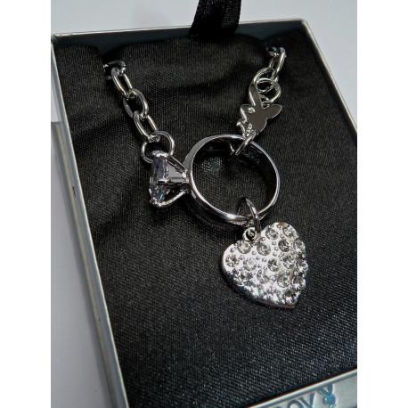 Playboy Herz-Diamant-Halskette