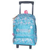 Backpack with wheels ETTAVEE LOVE Papillon Rose 2 Cpt 45 CM