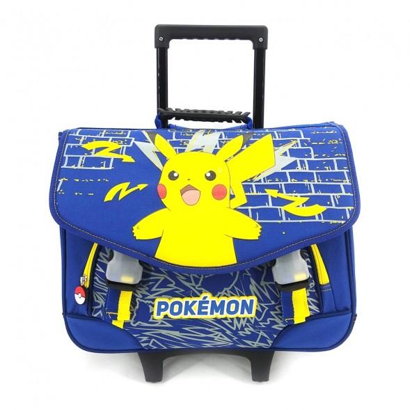 Cartable à roulettes Pokemon Pikachu Marine 41 CM Haut de Gamme