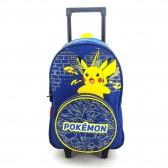 Sac à dos à roulettes Pokemon Pikachu Marine 44 CM Haut de gamme