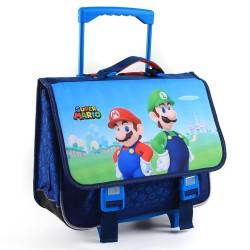 Cartable à roulettes Super Mario 41 CM Haut de Gamme