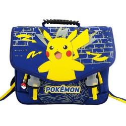 Cartable Pokemon Pikachu Marine 38 CM Haut de Gamme
