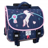 Milky Kiss Love Ride Navy 38 CM wheeled satchel