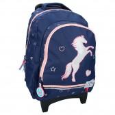 Horse Milky Kiss 45 CM High-end Trolley Wheeled Backpack - Bag