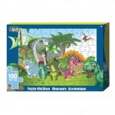 Puzzle Dinosaures 100 pièces - 49x36 cm