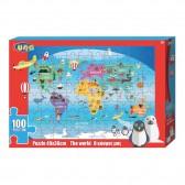 Puzzle Le monde 100 pièces - 49x36 cm