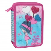 Trousse garnie Girl with Balloons 21 CM - 2 cpt