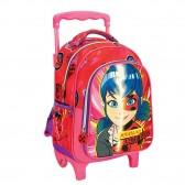 Miraculous Ladybug Rose 30 CM Wheeled Backpack - Kindergarten
