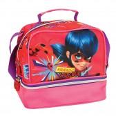 Sac goûter Miraculous Ladybug Rose 21 CM - sac déjeuner