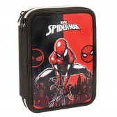 Trousse garnie Spiderman Black and Red 21 CM - 2 cpt