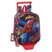 Sac à dos à roulettes maternelle Spiderman Go Hero Red 28 CM Trolley haut de gamme