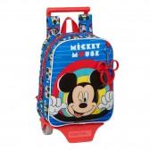 Sac à dos à roulettes maternelle Mickey Mouse Blue 28 CM Trolley haut de gamme