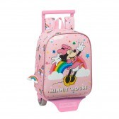 Sac à dos à roulettes maternelle Minnie Disney Pink 28 CM Trolley haut de gamme