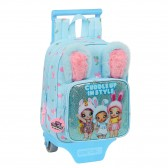 Sac à dos à roulettes maternelle Na ! Na ! Na ! Surprise Blue Rabbit 28 CM Trolley haut de gamme