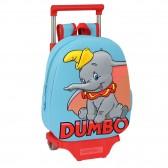 Sac à dos à roulettes maternelle Dumbo Disney 3D 32 CM Trolley haut de gamme