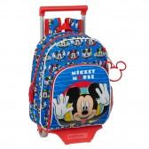 Sac à dos à roulettes Mickey Mouse Blue 34 CM Trolley maternelle