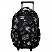 Fortnite Black 45 CM Trolley Wheeled Backpack - 3 Cpt