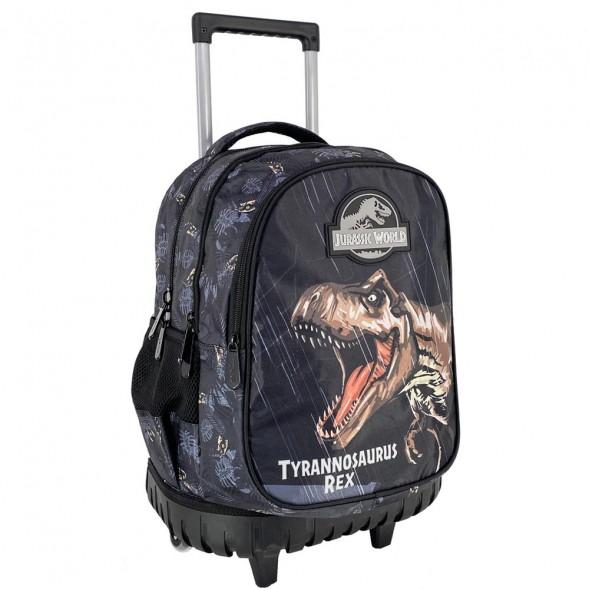 Sac à dos à roulettes Dinosaure Jurassic World 45 CM Trolley - 3 Cpt