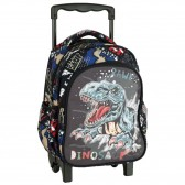 Sac à dos à roulettes maternelle Dinosaure No Fear 30 CM