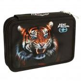 Trousse garnie No Fear Tigre Black 20 CM - 2 Cpt
