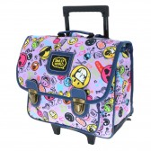 Black Emoji 38 CM Top Of Range Wheeled Bag